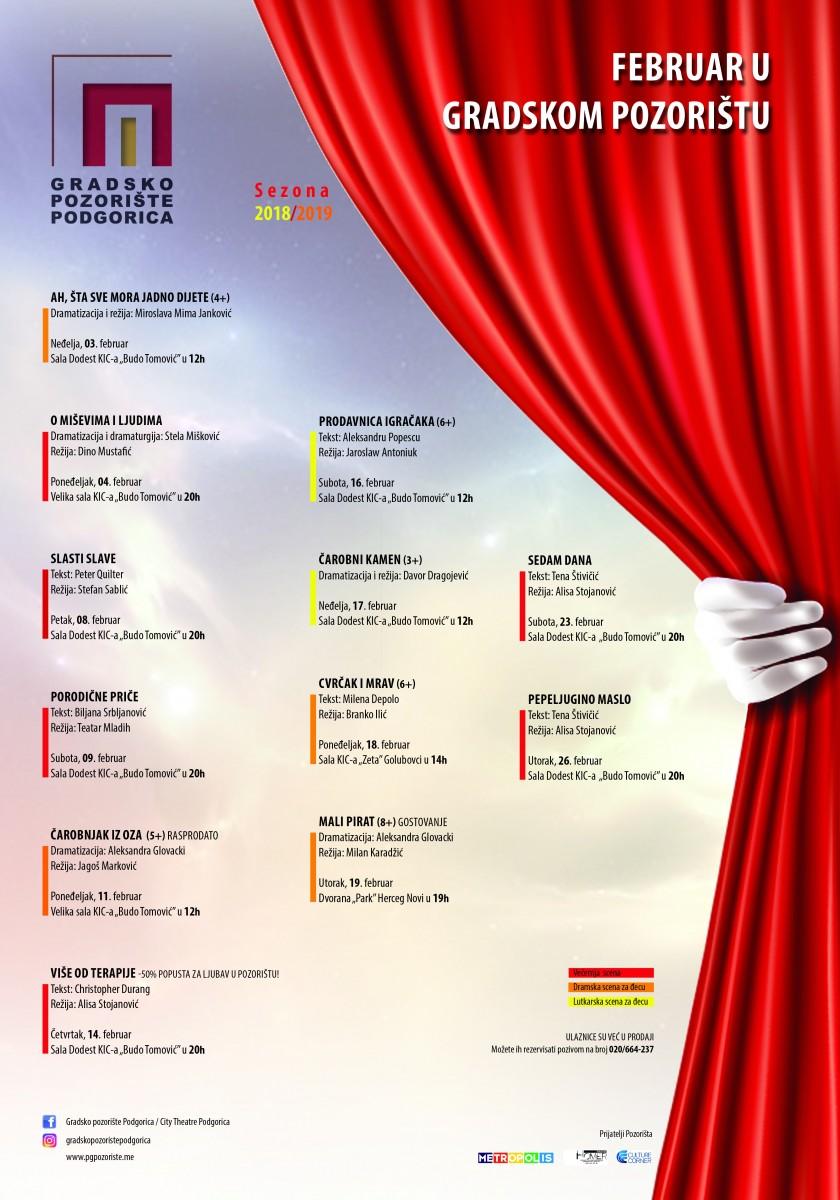 Фебруар у Градском: Театарске приче за све генерације