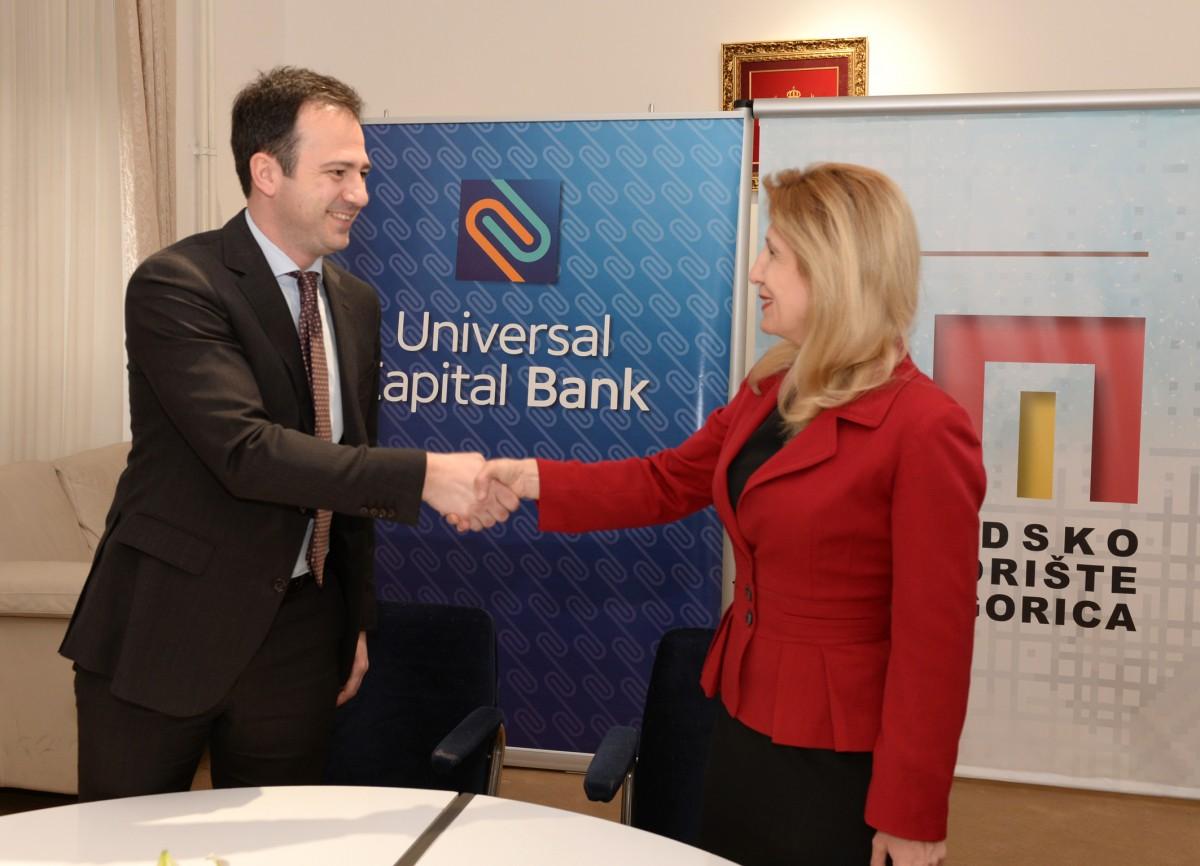 100.000 еура донација Universal Capital банке Градском позоришту Подгорица