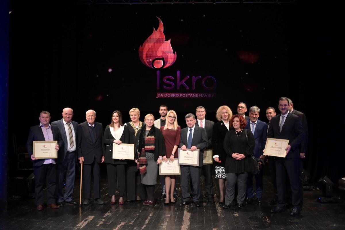 """Dodijeljene godišnje nagrade za filantropiju """"Iskra"""""""