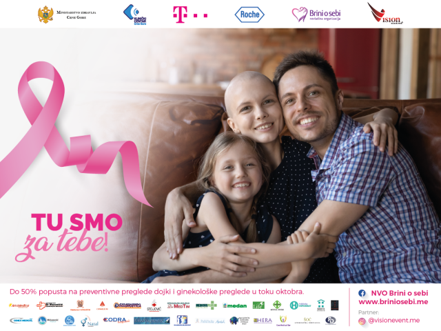 """Sedma kampanju za prevenciju karcinoma dojke pod nazivom """"Pođi na kontrolu"""""""